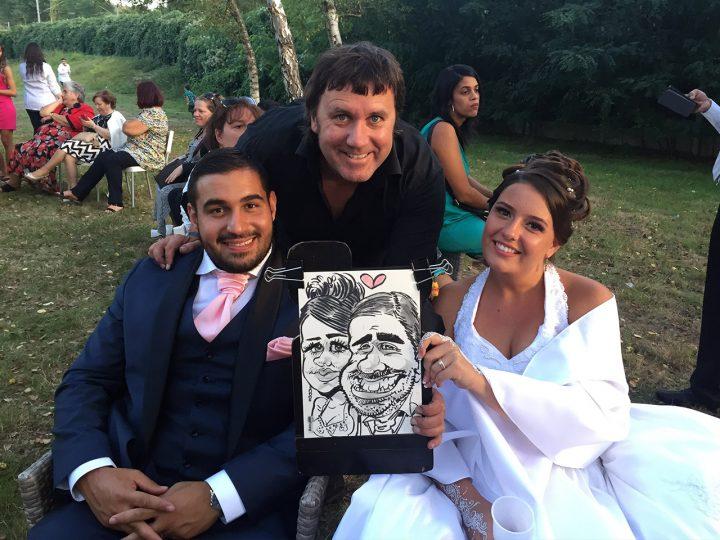 caricaturiste pour un mariage